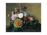 Flower Still Life, 1830-1840 Giclee Print by Georg Friedrich Kersting