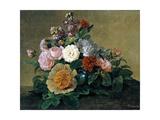 Flower Still Life, 1830-1840 Giclee Print by Georg Friedrich Kersting