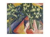 Avenue of Chestnut Trees, 1911 Impression giclée par Ernst Ludwig Kirchner