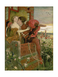 Romeo and Juliet, 1868-71 Print by Ford Madox Brown