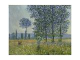 Fields in Spring, 1887 Giclee-trykk av Claude Monet