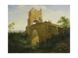 Ponte Salaro Near Rome, 1830 Giclee Print by Ludwig Richter