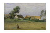 Harvest Poster by Jean-Baptiste-Camille Corot