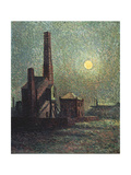 Factory by Moonlight Giclee Print by Maximilien Luce
