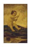 Cupid Fishing Giclee Print by Ludwig von Zumbusch