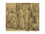 David the Psalmist - Adoration, 1854 Giclee Print by Julius Schnorr von Carolsfeld