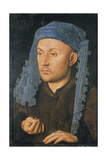 Portrait of a Man with Blue Headdress, C. 1430 Giclee Print by  Jan van Eyck