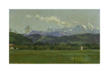 The Alps, Small Mountain Chain Giclee Print by Frank Buchser