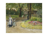 The Entrance to the Zoological Gardens, Frankfurt (Papagaienallee), 1901 Giclee Print by Max Slevogt