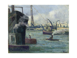 The Port at Rouen Poster by Maximilien Luce