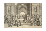 St, Paul Preaching at Athens (The School of Athens), 1550 Giclee Print by Giorgio Ghisi