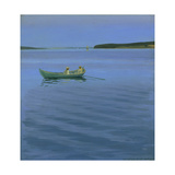Boat Excursion on an Idyllic Lake Giclee Print by Harald Slott-Möller