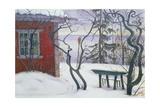 Winter in Hvalsbakken, 1926 Giclee Print by Harald Sohlberg