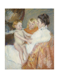 Mother, Sara and the Baby Prints by Mary Cassatt