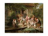 After School, Spree Forest Giclee Print by Johann Kretzschmer