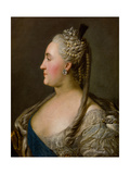 Portrait of Catherine II, 1763 Giclee Print by Fjodor Rokotov