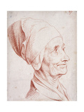 Portrait of a Man Said to Be Voltaire, Small Bust-Length, in Profile Giclee Print by Daniel Chodowiecki