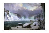 Panorama of the Niagara Falls in Winter, 1857 Giclee Print by Hippolyte Victor Valentin Sebron