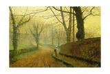 Autumn in Stapleton Park, 1891 Giclee Print by John Atkinson Grimshaw