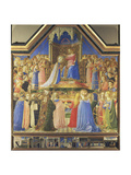 Coronation of the Virgin, from the Altarpiece from S. Domenico, Florence Giclee Print by  Fra Angelico
