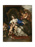 Virgin Mary with Child and John the Baptist as a Little Boy Print by Joachim Von Sandrart