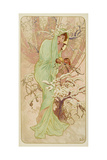 "Winter (From the Series ""Seasons""), 1896 Giclee Print by Alphonse Mucha"