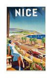 Nice, Ca, 1930 Reproduction procédé giclée par  Eff d'Hey