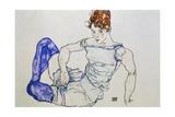 Sitzende Frau Mit Violetten Struempfen, 1917 Giclee Print by Egon Schiele