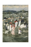Strolling in the Park Giclee Print by Maurice Brazil Prendergast