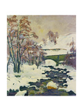 Winter in Stampa Giclee Print by Giovanni Giacometti