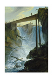 The Weir Near Muehletal East of Innertkirchen Giclee Print by Caspar Wolf