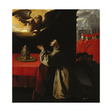 St, Bonaventura Praying, 1629 Giclee Print by Francisco Zurbaran y Salazar