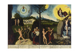 Fall of Man Kind and Salvation, Altarpiece, 1529 Giclee Print by Lucas Cranach the Elder