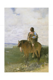 Sioux-Indian on Horseback, 1882 Giclee Print by George de Forest-Brush