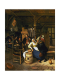 The Old Admirer, Rural Tavern with Card Playing Farmers in the Background Prints by Jan Steen