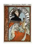 Au Quartier Latin, 1898 Print by Alphonse Mucha
