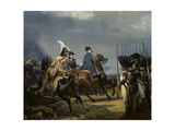 Napoleon Bonaparte on Horseback in the Battle of Iena, 14 October 1808, 1836 Giclée-Druck von Emile Jean Horace Vernet