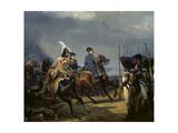 Napoleon Bonaparte on Horseback in the Battle of Iena, 14 October 1808, 1836 Kunstdrucke von Emile Jean Horace Vernet