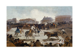 A Village Bullfight, C. 1812-29 Giclee Print by Francisco de Goya