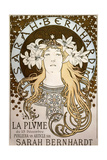 La Plume', Featuring Sarah Bernhardt, 1896 Giclee Print by Alphonse Mucha