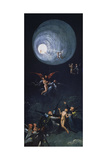 The Ascent into the Empyrean or Highest Heaven, Panel Depicting the Four Hereafter-Portrayals Giclée-tryk af Hieronymus Bosch