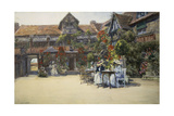 Dives-Sur-Mer (Normandy), in the Courtyard of the Inn Named William the Conqueror Giclee Print by Francis Hopkinson Smith
