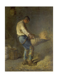 Un Vanneur (Separate the Wheat from the Chaff), 1866-1868 Prints by Jean-François Millet