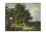 Autumnal Forest with Herders, 1837 Giclee Print by Ludwig Richter