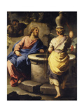 Christ and the Samaritan Woman at the Well, C. 1697 Lámina giclée por Luca Giordano