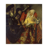 The Procuress, 1656 Giclee Print by Jan Vermeer
