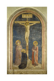 Crucifixion with the Virgin, Ss, John the Evangelist and Dominic, 1442 Art by  Fra Angelico