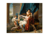 Sappho and Phaon, 1809 Giclee Print by Jacques Louis David