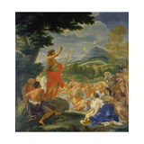 The Sermon of John the Baptist Giclee Print by Giovanni Battista Gaulli