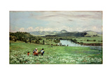 Along the Rhine Near Saeckingen, 1873 Giclee Print by Hans Thoma